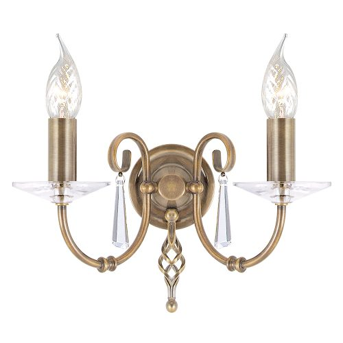 Aegean 2lt Wall Light Aged Brass