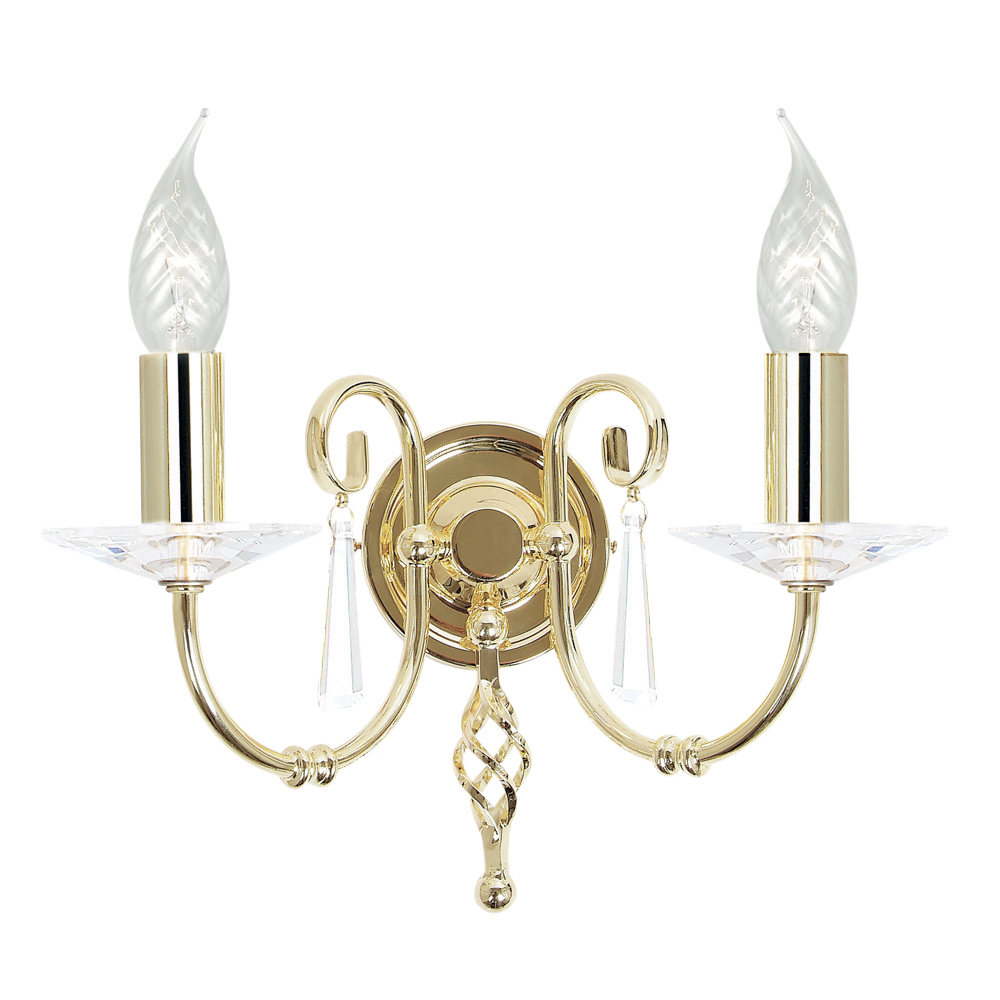 Aegean 2lt Wall Light Polished Brass