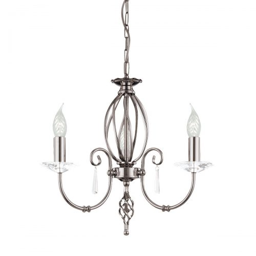 Aegean 3lt Chandelier Polished Nickel