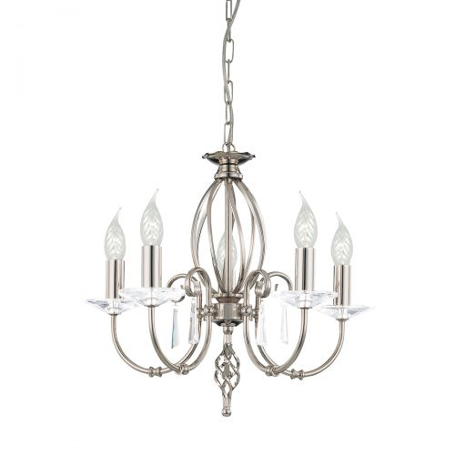 Aegean 5lt Chandelier Polished Nickel