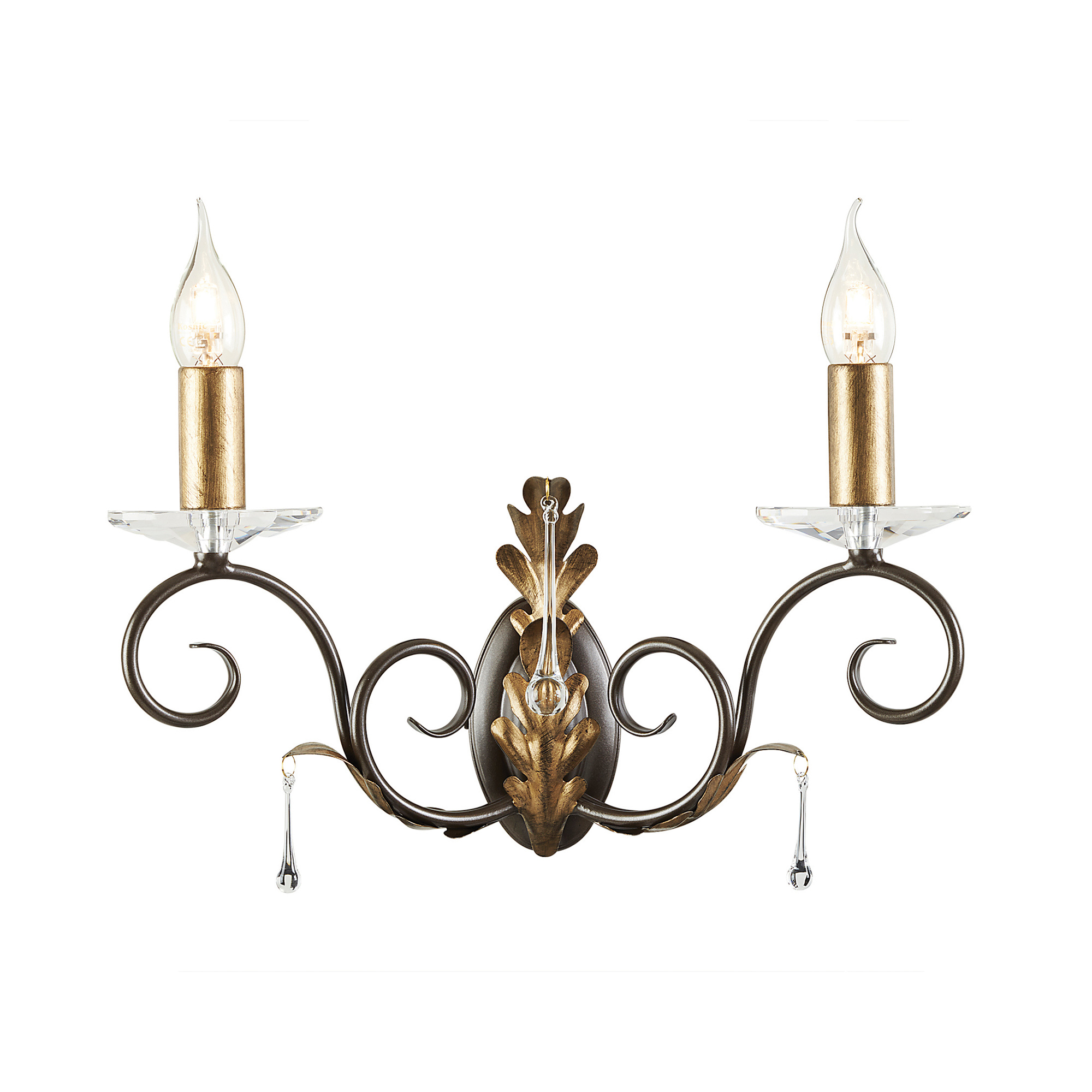 Amarilli 2lt Wall Light Bronze/Gold