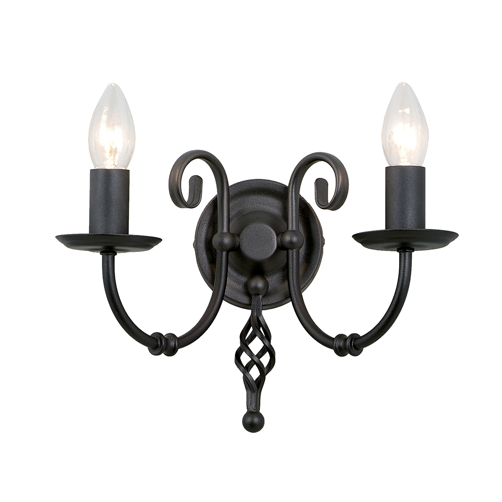 Artisan 2lt Wall Light Black