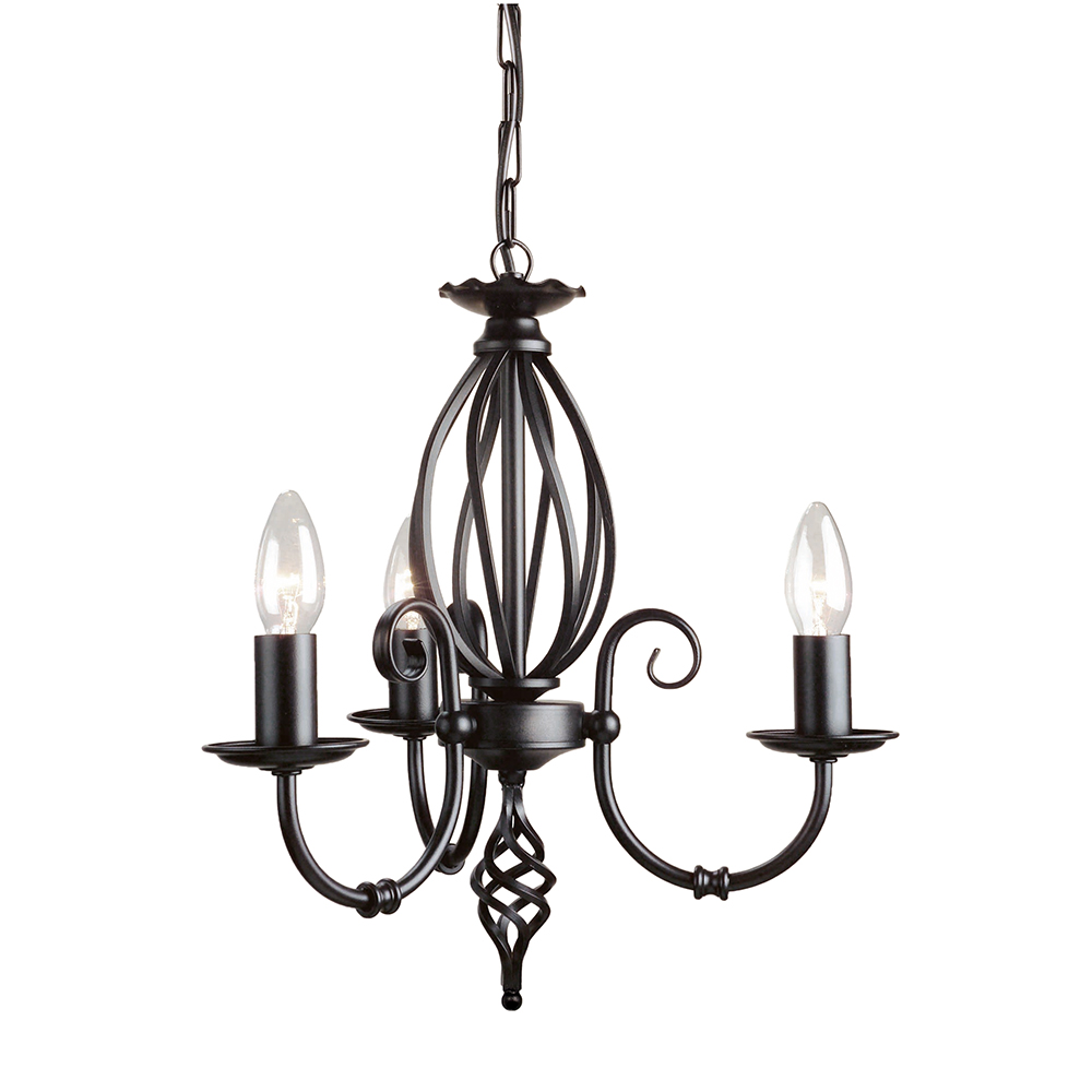 Artisan 3lt Chandelier Black