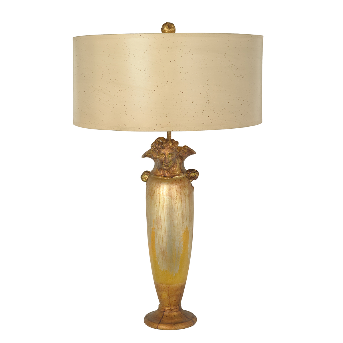 Bienville Table Lamp Antiqued Mustard and Gold