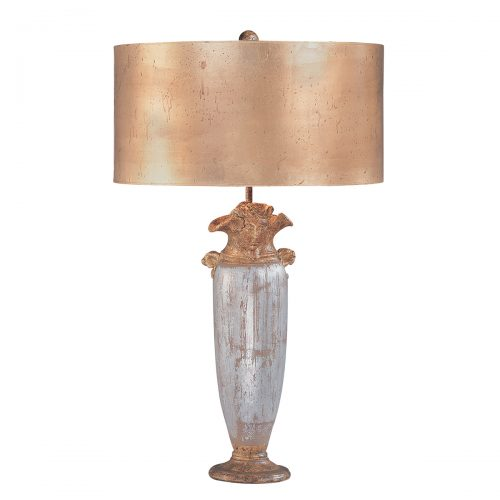 Bienville Table Lamp Silver and Gold