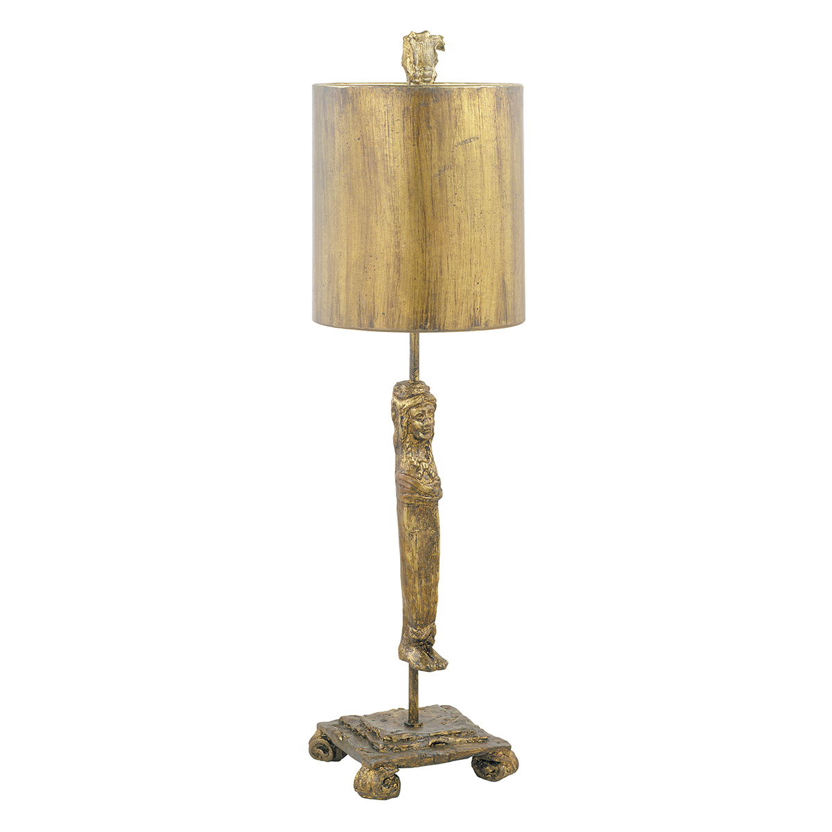 Caryatid Gold Table Lamp