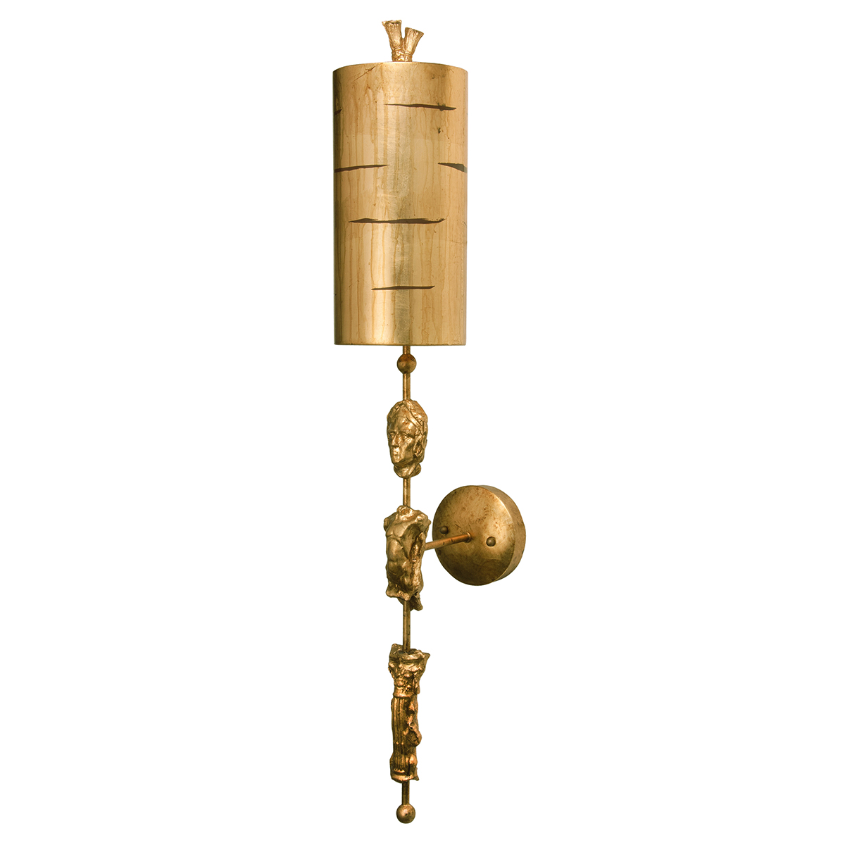 Fragment Gold 1lt Wall Light