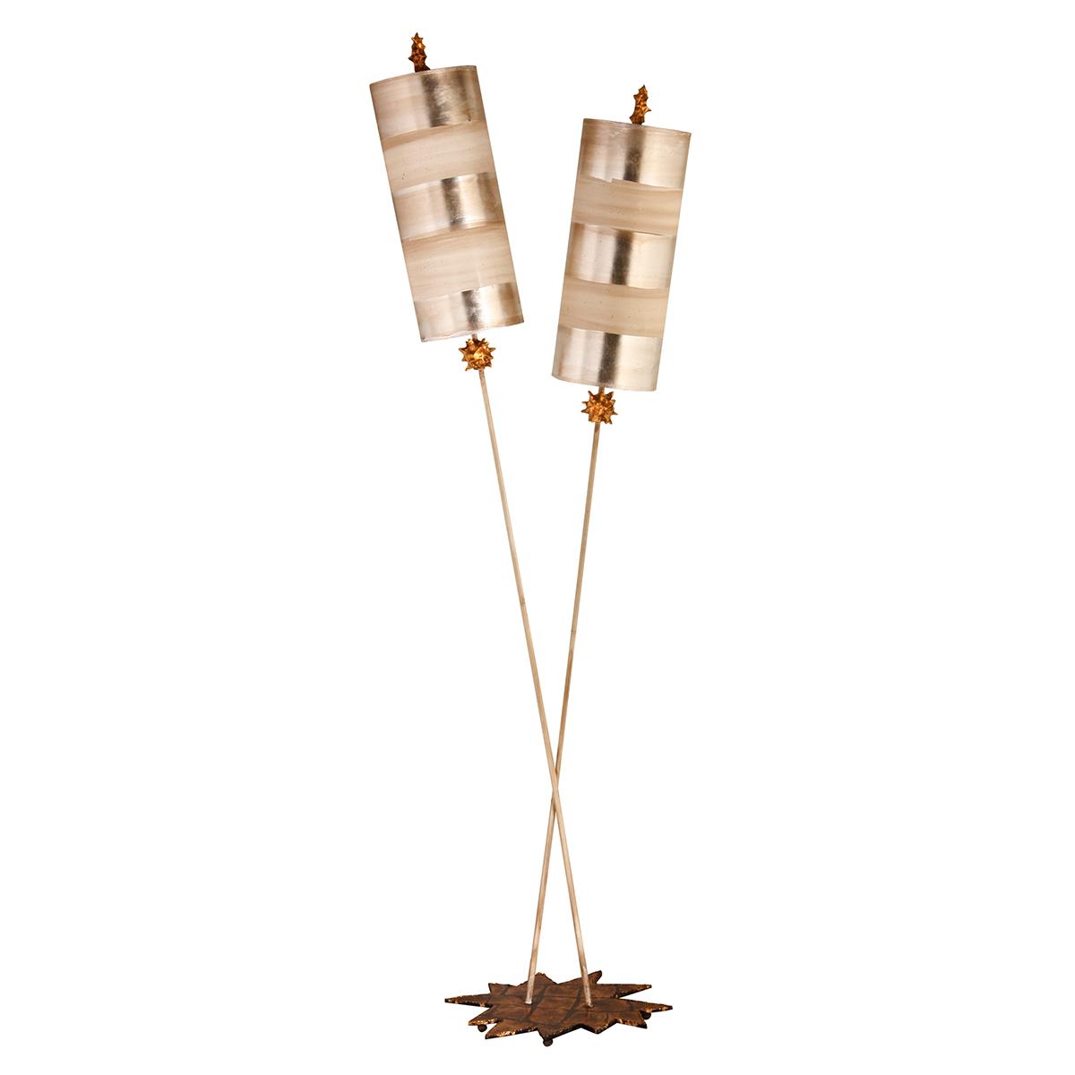 Nettle Luxe Floor Lamp Silver