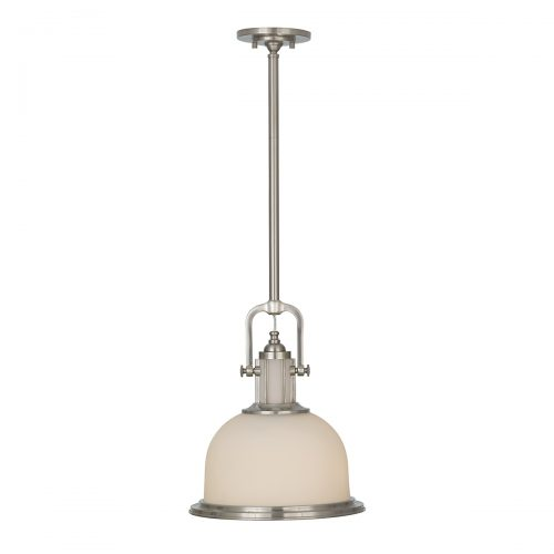 Parker Place 1lt Pendant Brushed Steel