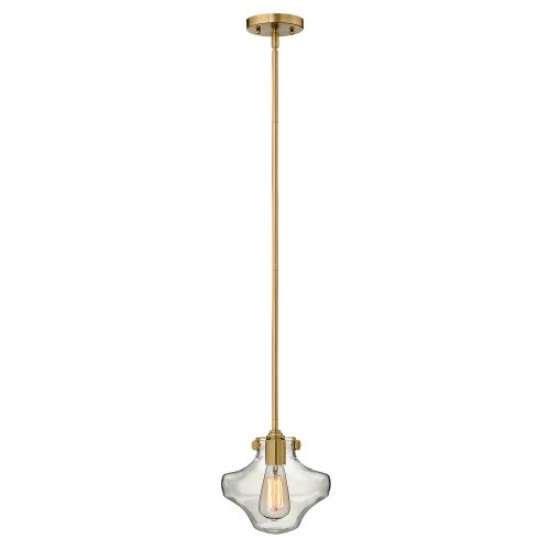 Congress Clear Glass Pendant  Brushed Caramel