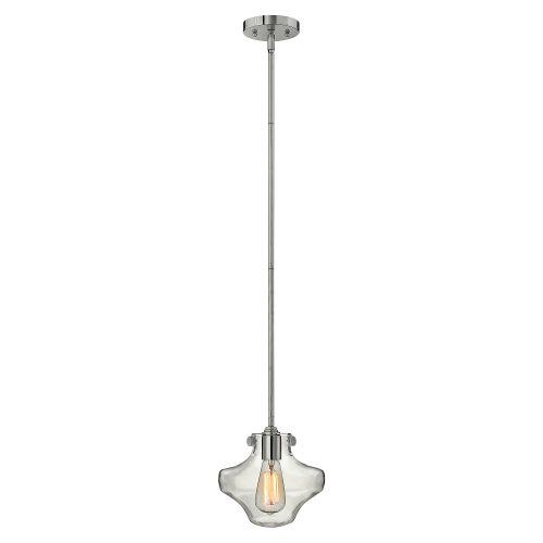 Congress Clear Glass Pendant Chrome