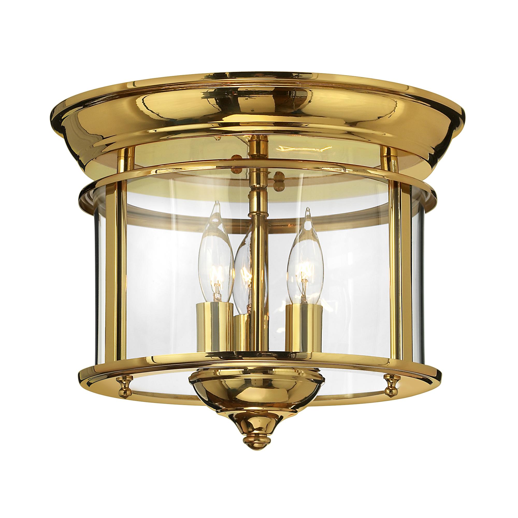 Gentry Flush Mount Polished Brass