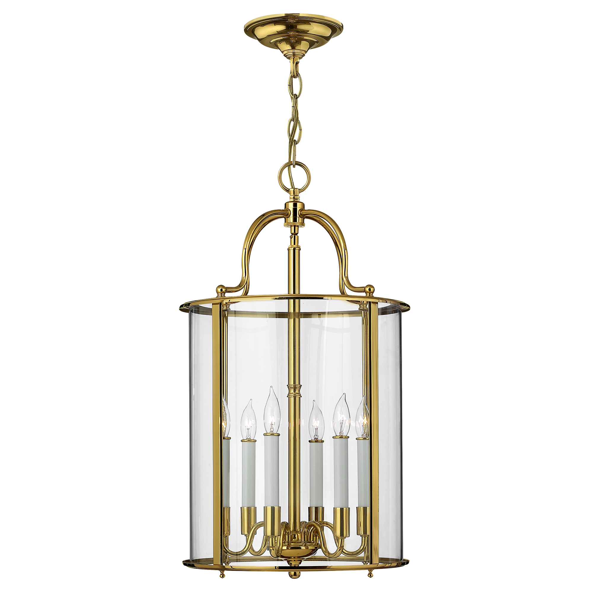 Gentry Large Pendant Polished Brass