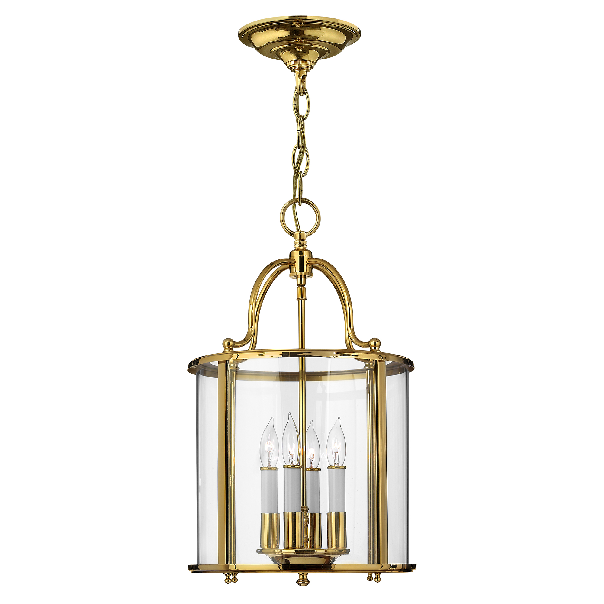 Gentry Medium Pendant Polished Brass