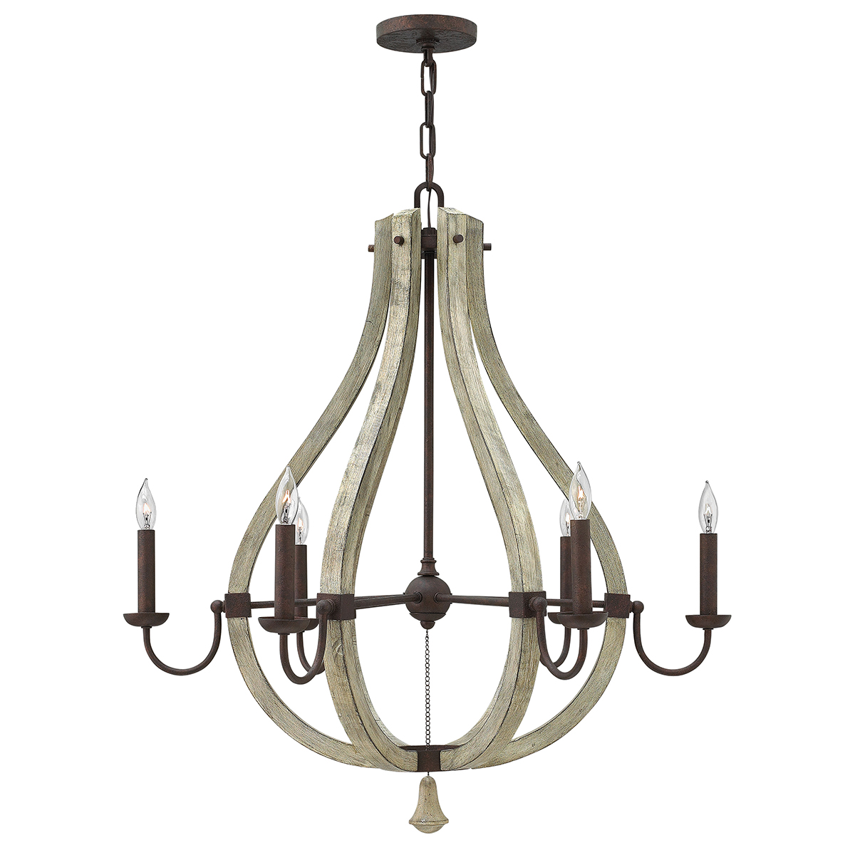 Middlefield 6lt Chandelier