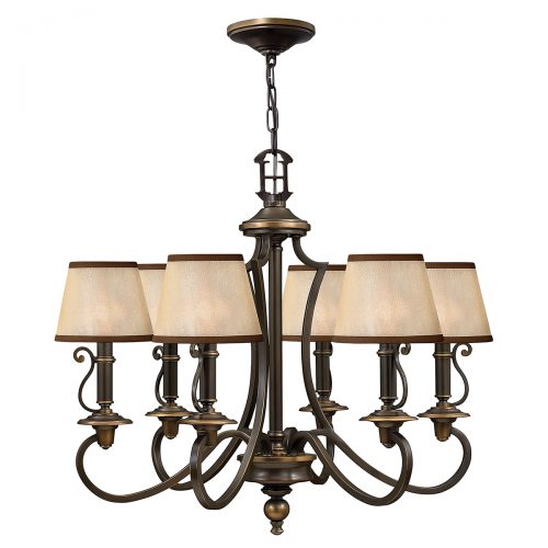 Plymouth 6lt Chandelier