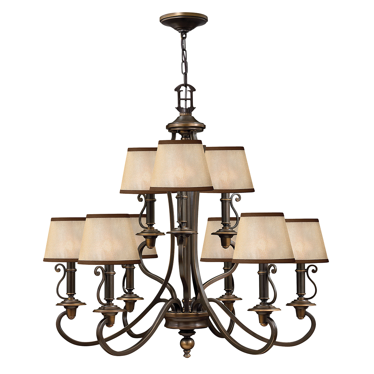 Plymouth 9lt Chandelier