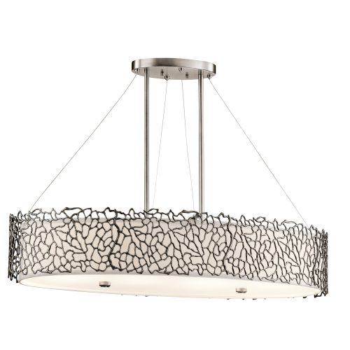 Silver Coral Oval Island Light