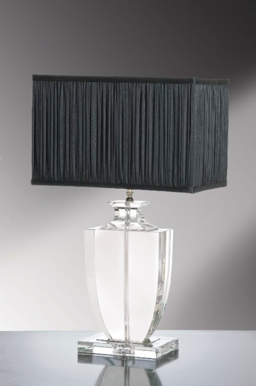 Liona Clear Crystal Trophy Table Lamp