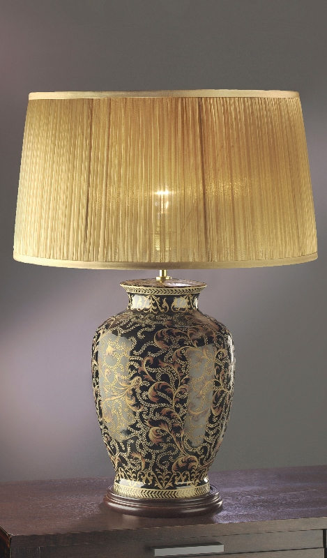 Morris Gold/Black Large Table Lamp