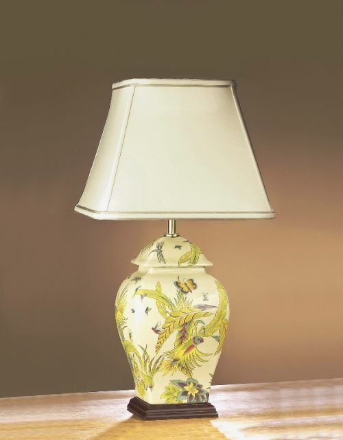 Parrot Yellow/Green Temple Jar Lamp
