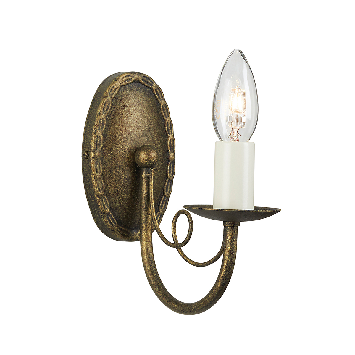 Minster 1lt Wall Light Black/Gold
