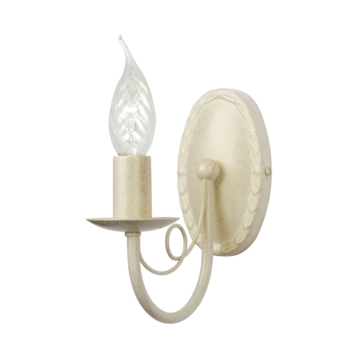 Minster 1lt Wall Light Ivory Gold