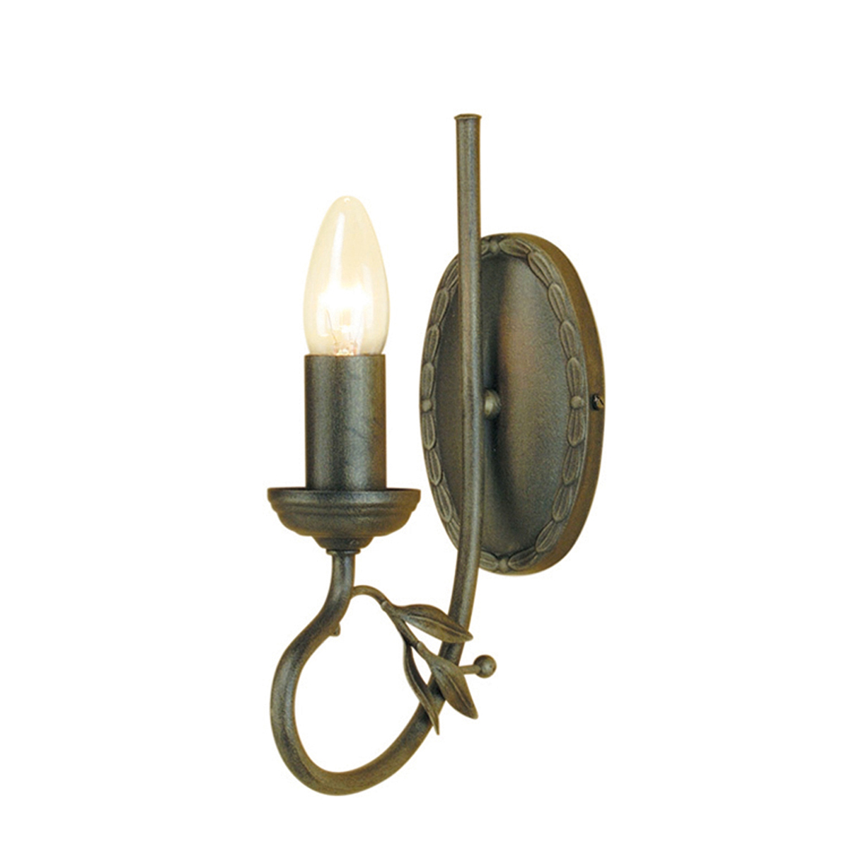 Olivia 1lt Wall Light Black/Gold