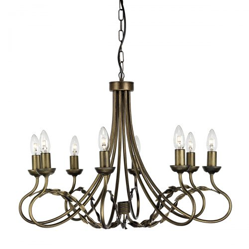 Olivia 8lt Chandelier Black/Gold