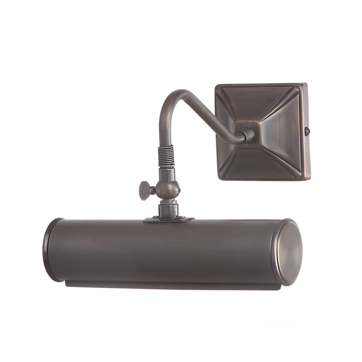 Picture Light 1lt Small Aged Brass