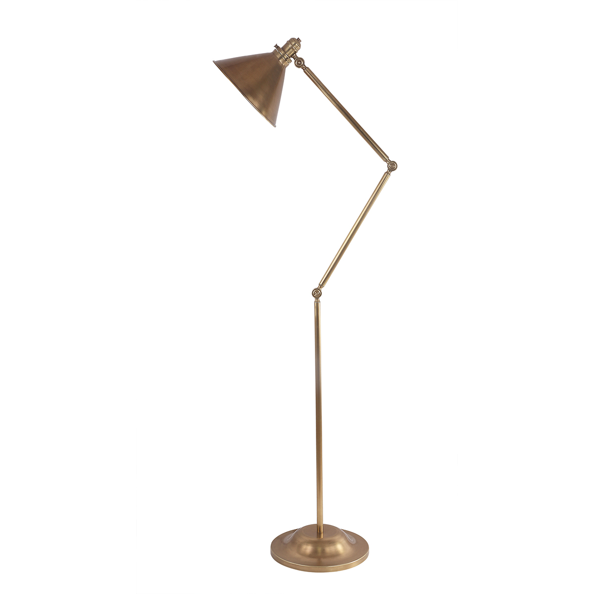 Provence 1lt Floor Lamp Aged Brass