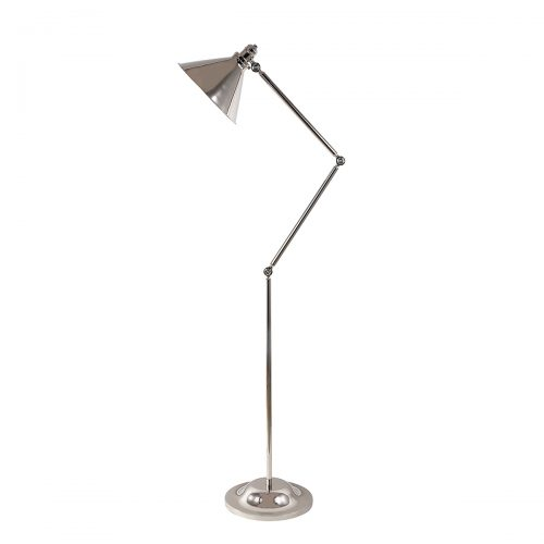 Provence 1lt Floor Lamp Polished Nickel