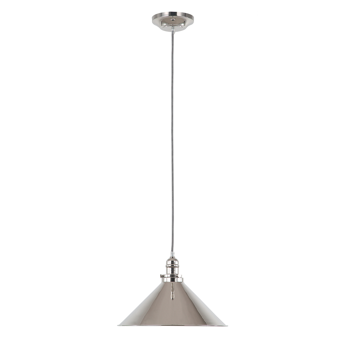 Provence 1lt Pendant Polished Nickel
