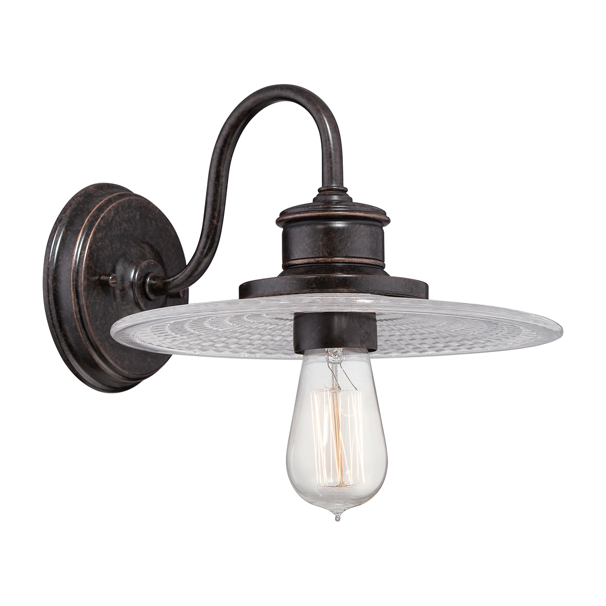 Admiral 1lt Wall Light Imperial Bronze