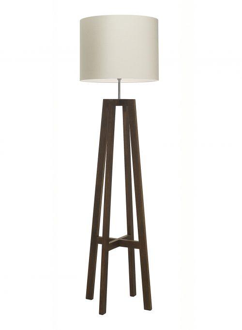 Tripod Wood Floor Lamp